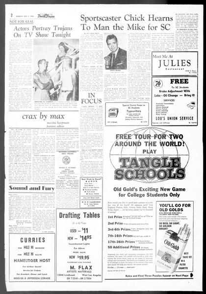 Daily Trojan, Vol. 48, No. 7, October 01, 1956