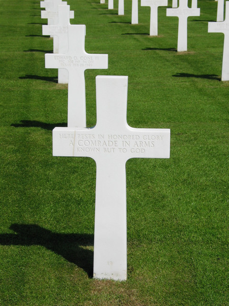 Here rests a comrade in arms known but to God