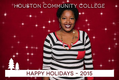 Houston Community College Holiday Green Screen