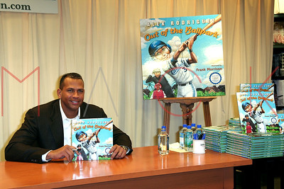 New York, NY - February 06:  Alex Rodriguez Signs His Book 'Out of the Ballpark' at Barnes & Noble.