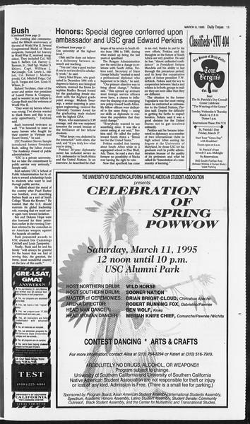 Daily Trojan, Vol. 124, No. 36, March 08, 1995
