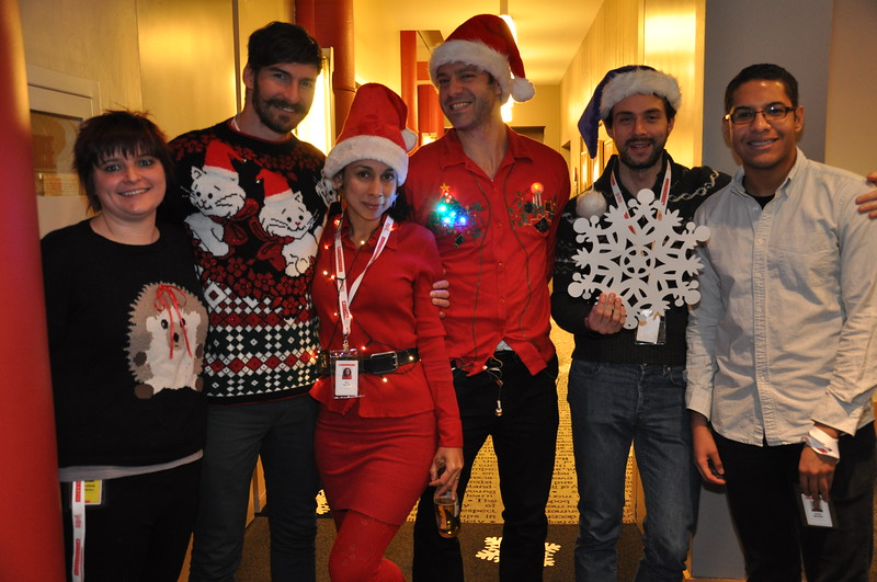 Scholastic holiday party in New York, December 12, 2014. PHOTO CREDIT: Cynthia Carris for Scholastic