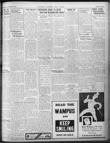 Daily Trojan, Vol. 22, No. 19, October 08, 1930
