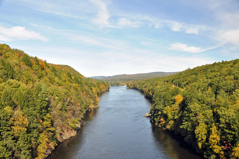 from the bridge on route 2 in Gill, Ma