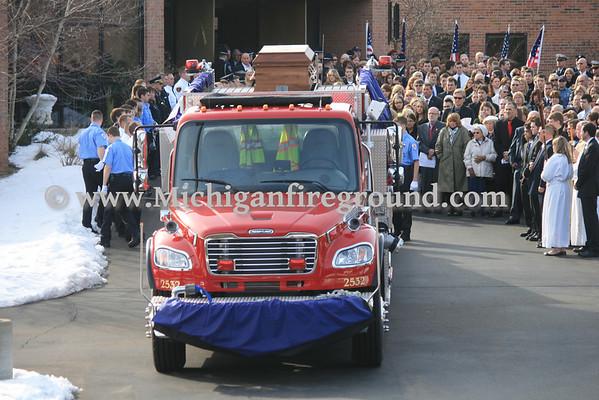 3/4/13 - Mattawan Firefighter Nathan Fruin funeral procession
