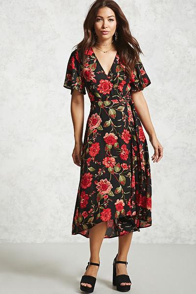 forever 21 contemporary floral wrap dress.jpg