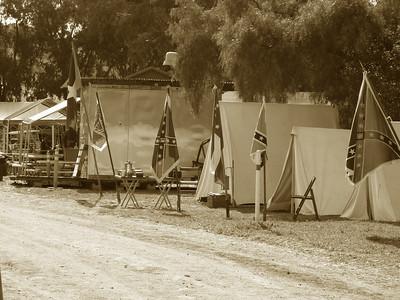 Civil War Re-enactment, in Sepia