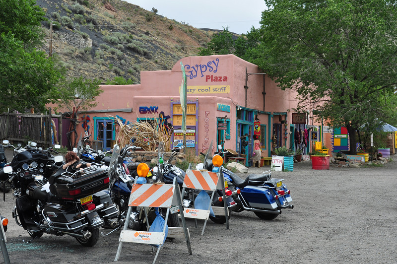 Madrid, NM.  This is apparently a big Harley destination from all over NM.