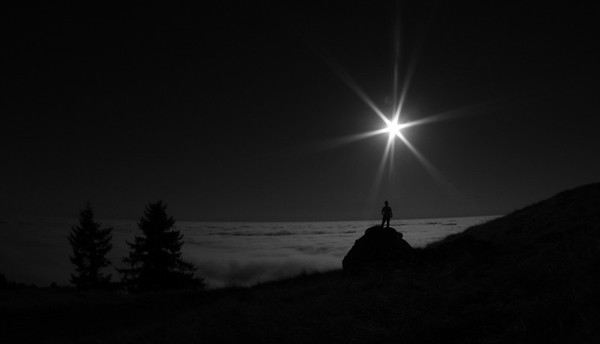 Sunset on Mt Tam above the clouds