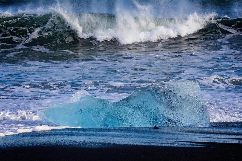 Rough Sea at Jokulsarlon
