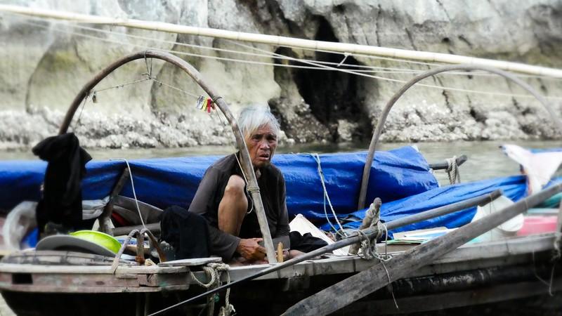 Elderly Fishing Woman