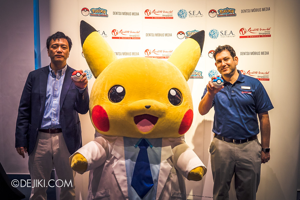 Pokémon Research Exhibition Launch -  Mr Susumu Fukunaga, Corporate Officer, The Pokémon Company; Mr Jason Horkin, Senior Vice President of Attractions at Resorts World Sentosa