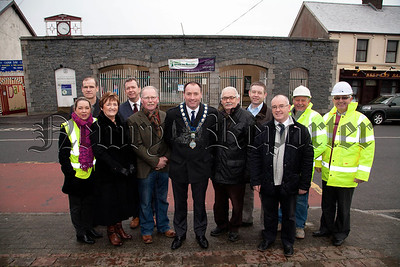 Mayor Mickey Ruane is pictured at Crossmaglen Community Centre which will get an extension and  renovation. Also pictured are Councillors, representatives of SOAR and contracters. R1403010