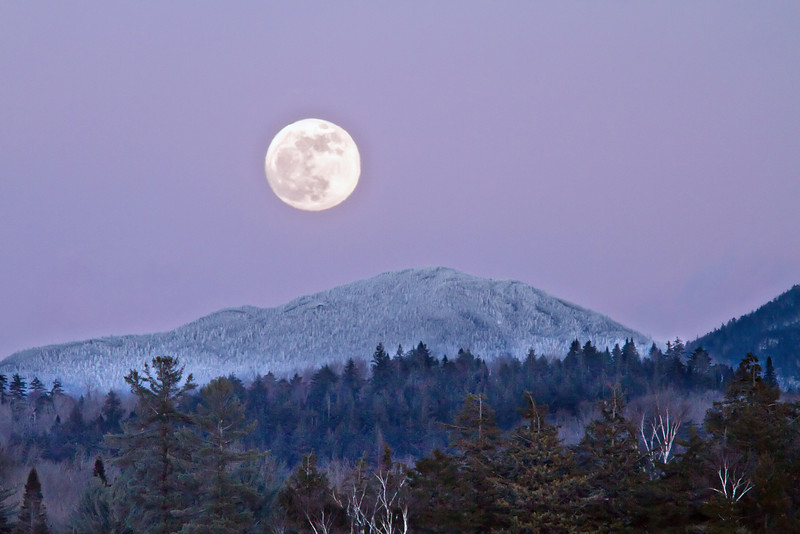 Wolf Moon over Adirondacks, January 2010