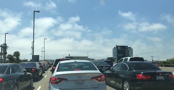 Traffic getting up to the Los Angeles International Airport can be tough if you have to leave at the wrong time of day.