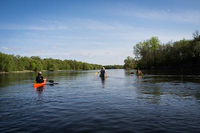 Mississippi River canoe trip, '15