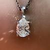 1.11ct Pear Shape Diamond Pendant GIA E VVS2 20