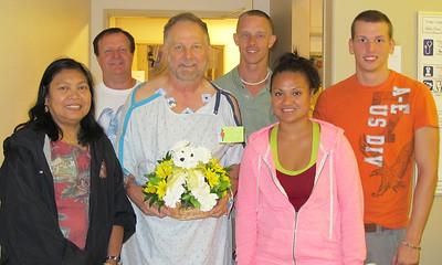 Dad in Hospital, St. Luke's Hospital, Bethlehem (8-21-2012)