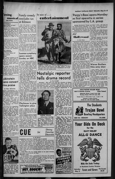 Daily Trojan, Vol. 34, No. 141, May 06, 1943