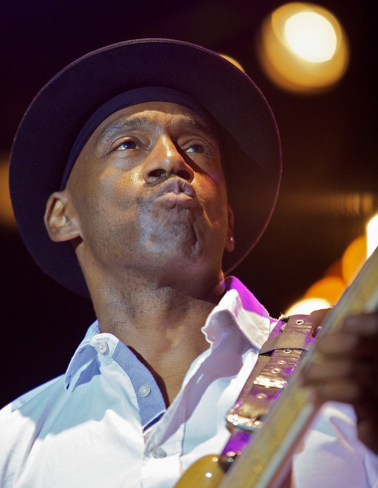 Marcus Miller at Jazz à Juan 2010 4<br /> Marcus Miller and the Philharmonic Orchestra of Monte-Carlo  in concert at Jazz à Juan 2010