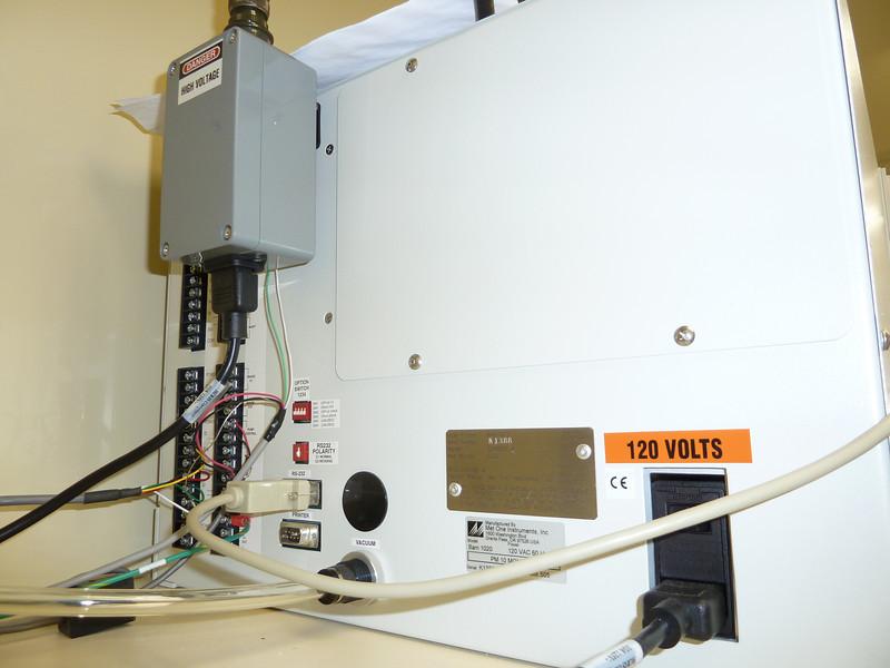 Rear of MetOne BAM-1020 PM2.5 continuous FEM sampler