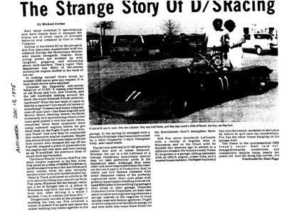 1975 December 13 - The Strange Story of DSR Racing