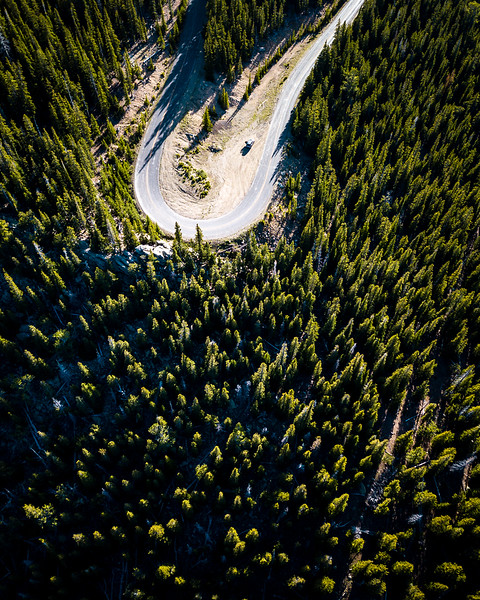 Frankieboy Photography |  Aerial View of Road in Colorado | Drone Photography