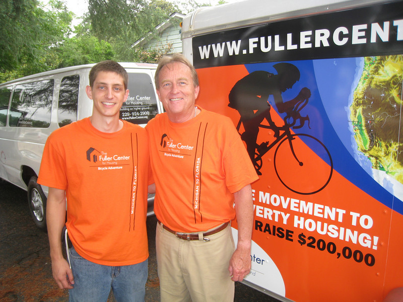 09 07-10 - Ryan Iafigliola with FCH president David Snell just before departing Americus, GA. ff