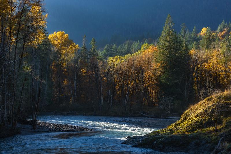 The Elwha River near Port Angeles, Washington