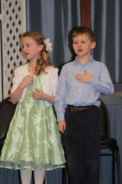 Aaron in his school's Easter program 4/11