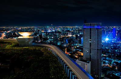 Blue Bangkok night
