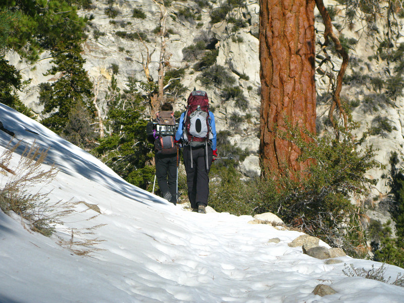 hiking the trail - no snow shoes needed yet
