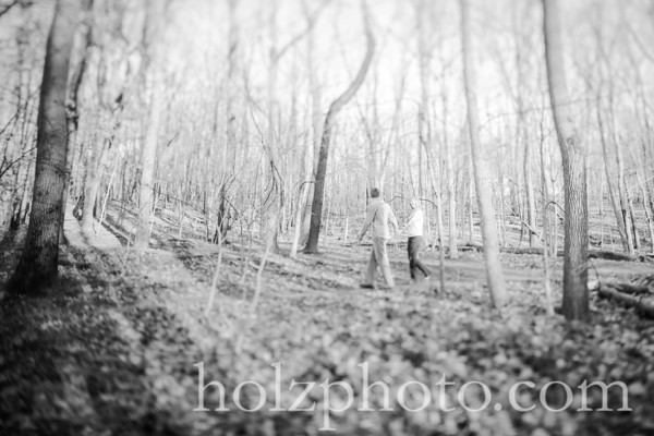 Corryn & Andrew B/W Engagement Photos