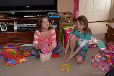 Ashlynn and Mallory's 10th B-day: family party.