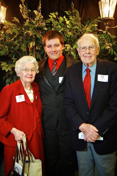 Margaret and Herman Best, Micah Powers. Scholarship Luncheon at Gardner-Webb University.