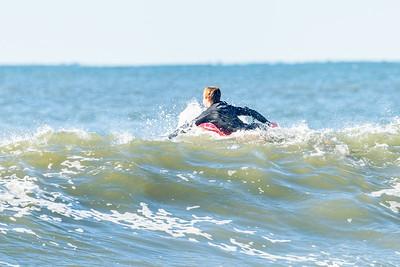 Jim , Tim and Luke Surfing Long Beach  - Dorian Swell 9-7-19