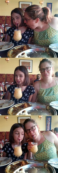Guen won't share, so Karen needs her own mango lassi.