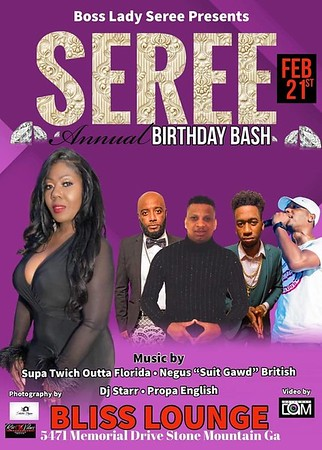 BOSS LADY SEREE PRESENTS HER ANNUAL BDAY BASH 2020 EDITION