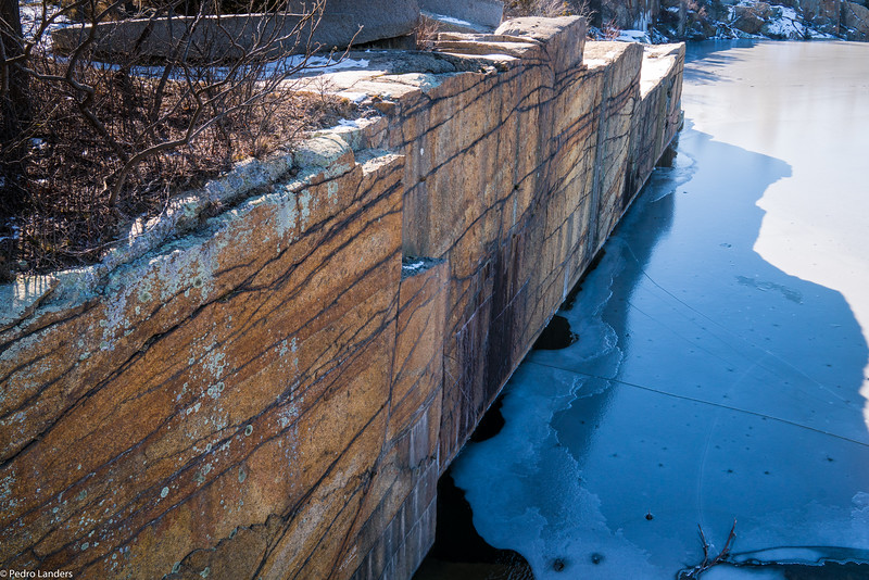 Quarry Wall and Ice