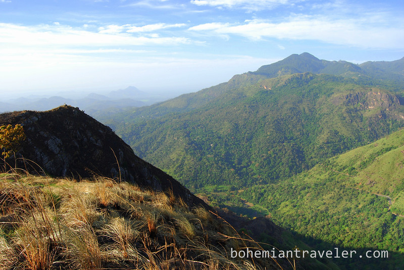 The view from small Adam's Peak in Ella, Sri Lanka.