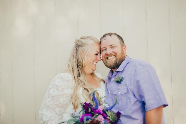 April & Al Wedding Day