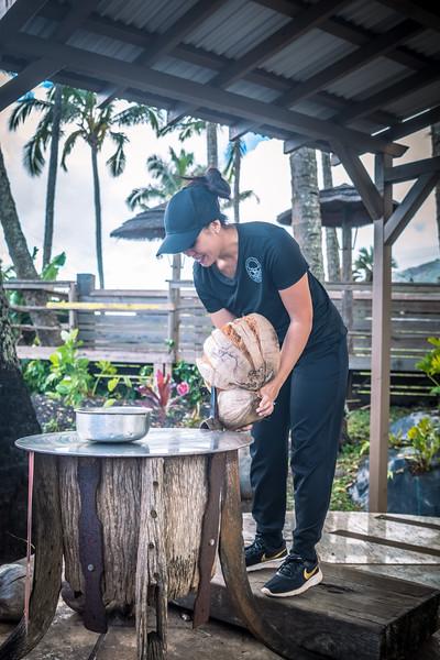 How to break open a coconut