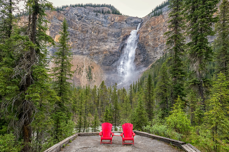 Red Chairs at the Falls