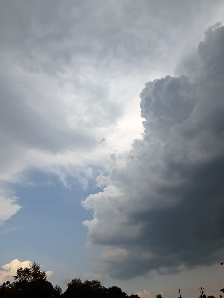 July 3:  Another passing storm .  .  .