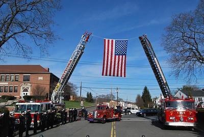 Paul Salamone, Sr. Funeral. West Paterson FD