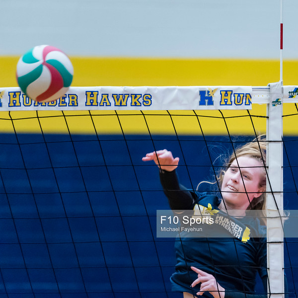 TORONTO, CANADA - Dec 29: during 2018 Humber Classic Women's Volleyball Invitational Match between Humber vs NIP at Humber Hawks Athletics Gym. Photo: Michael Fayehun/F10 Sports Photography