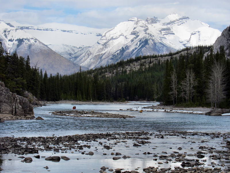 The Bow River in Banff, BC