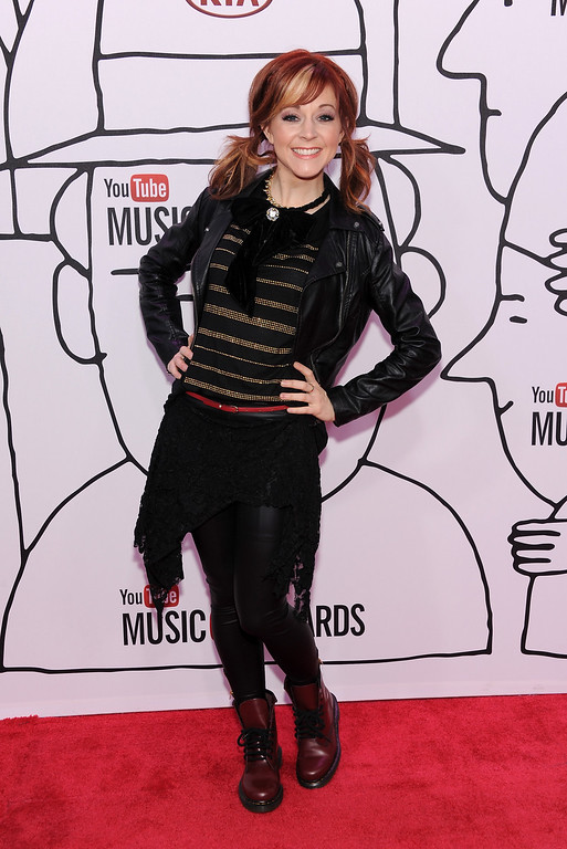 . Lindsey Stirling attends the YouTube Music Awards 2013 on November 3, 2013 in New York City.  (Photo by Dimitrios Kambouris/Getty Images)