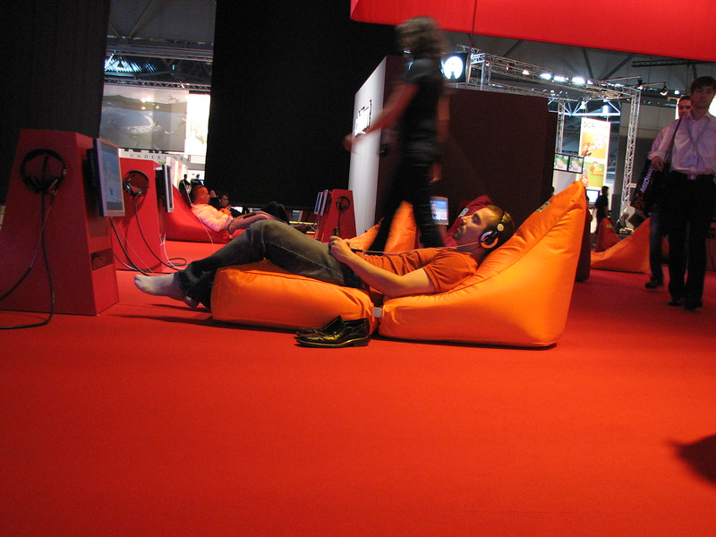 Relaxation point at Games Convention 2008