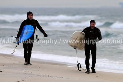 Surfing, Gilgo Beach, NY, (12-08-07)